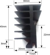 PPR Type TO220 PCB mount Heatsink